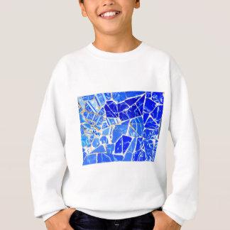 Abstracte blauwe achtergrond trui