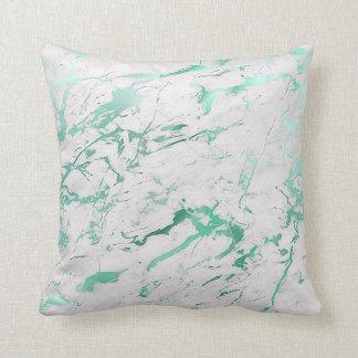 Abstracte Blauwgroen Witte Aquatische Groene Sierkussen