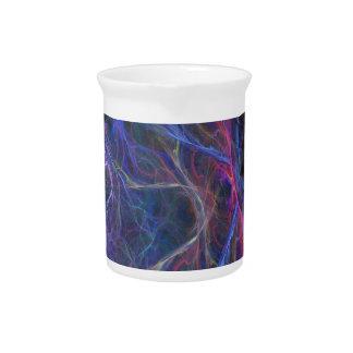 Abstracte bliksemachtergrond drink pitcher