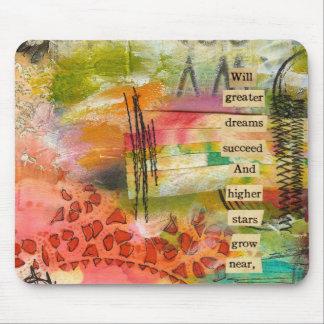 abstracte bloem mousepad muismat