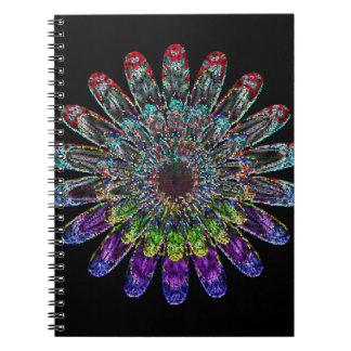 Abstracte bloem notitieboek