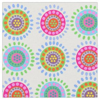 Abstracte bloemen kleurrijk patroon stof