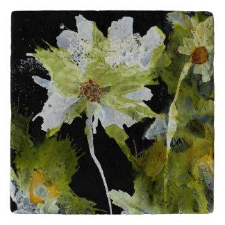 Abstracte Bloemen (u kunt aanpassen) Trivet