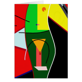 Abstracte dame wenskaart