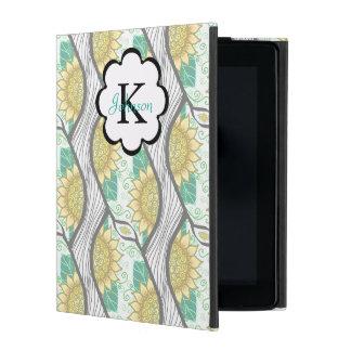 Abstracte Decoratieve Personaliseerbare Zonnebloem iPad Hoesje