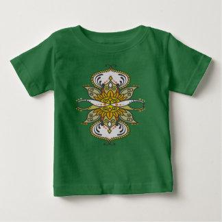 abstracte etnische bloem baby t shirts