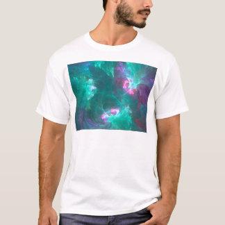 Abstracte fractal in een koud palet t shirt