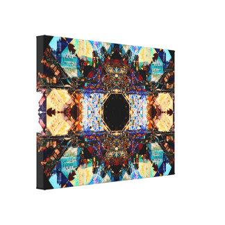 Abstracte Fractalization Mandala Canvas Print