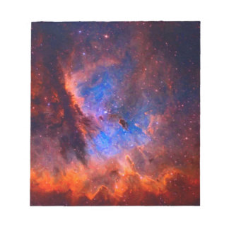 Abstracte Galactische Nevel met kosmische wolk - Notitieblok