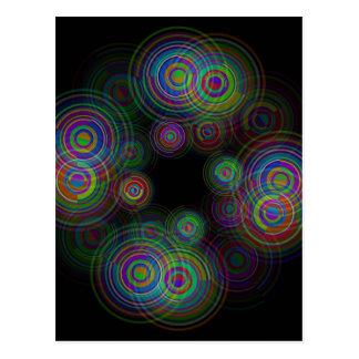 Abstracte geometrische cirkels briefkaart
