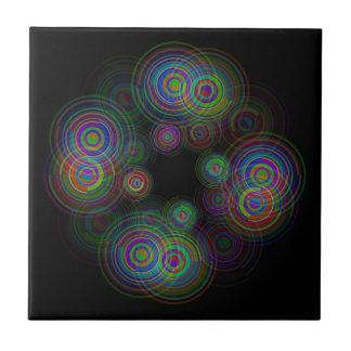 Abstracte geometrische cirkels keramisch tegeltje