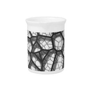Abstracte geometrische voronoi laag p van het drank pitcher