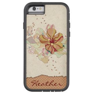 Abstracte Gepersonaliseerd Bloemen Tough Xtreme iPhone 6 Hoesje