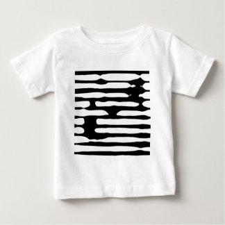 Abstracte gestreepte zwart-wit dogecoin baby t shirts