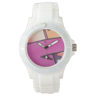 Abstracte Graffiti in Roze Horloge