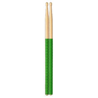Abstracte groene trommelstokken drumstokkies    0