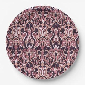 Abstracte hand getrokken patroon. Paarse kleur Papieren Bordje