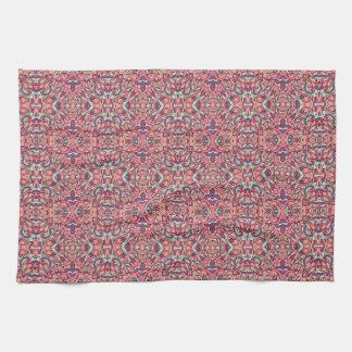 Abstracte hand getrokken patroon. Roze kleur Keukenhanddoek