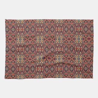 Abstracte hand getrokken patroon. Warme kleuren Keuken Handdoek