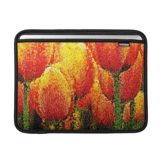 Abstracte het Schilderen van de Tulp Kunst - de MacBook Air Beschermhoes