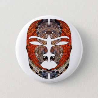 Abstracte imitatie van Afrikaans masker Ronde Button 5,7 Cm