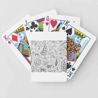 Abstracte Indonesische Textiel met Vogels Poker Kaarten