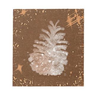 Abstracte Kerstmis Pinecone Notitieblok