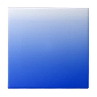 Abstracte kleur - blauw keramisch tegeltje