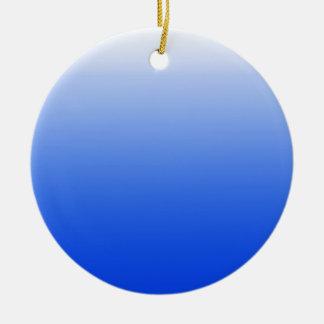 Abstracte kleur - blauw rond keramisch ornament