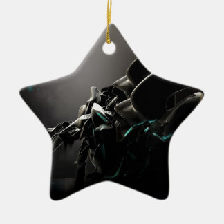 Abstracte Koele Zwarte Charmes Keramisch Ster Ornament
