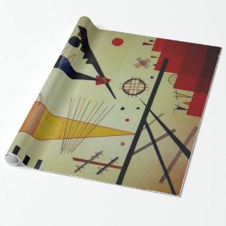 Abstracte Kunstwerk van de Structuur van Kandinsky Inpakpapier