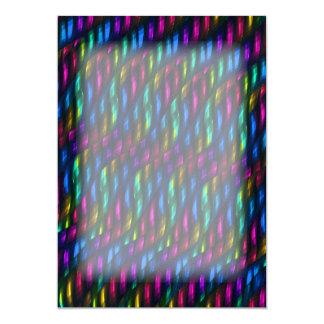 Abstracte Kunstwerk van het Mozaïek van de Gem van 12,7x17,8 Uitnodiging Kaart