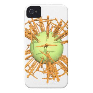 Abstracte mens iPhone 4 hoesjes