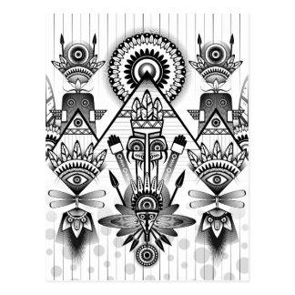 Abstracte Oude Inheemse Indische Stammen Briefkaart