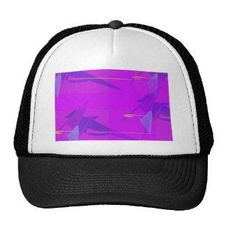 Abstracte paars petten met netje