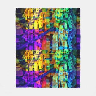 Abstracte paarse kubussen fleece deken