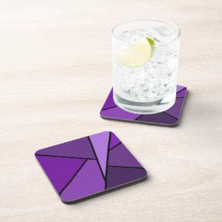 Abstracte Paarse Veelhoeken Drankjes Onderzetter