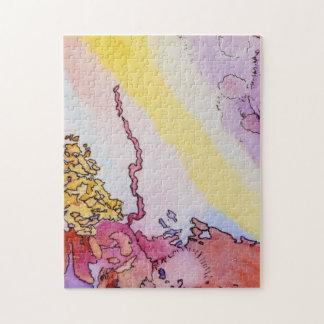 abstracte puzzel 11x14 met ontwerp puzzel