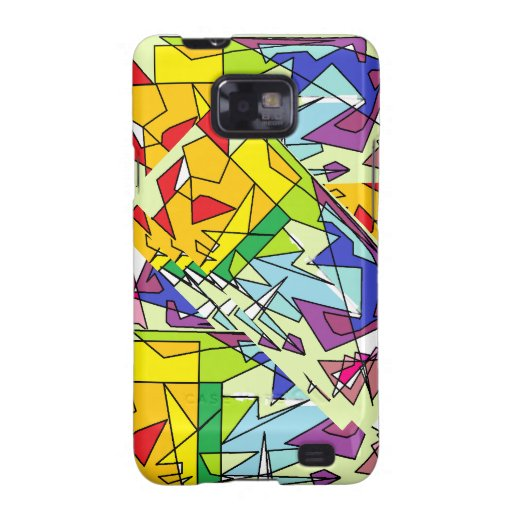 Abstracte Regenboog Samsung Galaxy SII Cover