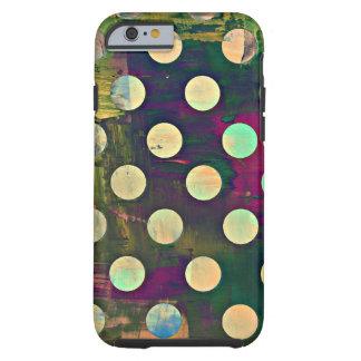 Abstracte Rustieke Retro Stippen Tough iPhone 6 Hoesje