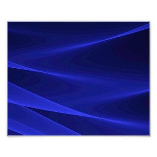 Abstracte stroom BLAUWE karmozijnrood Foto Prints