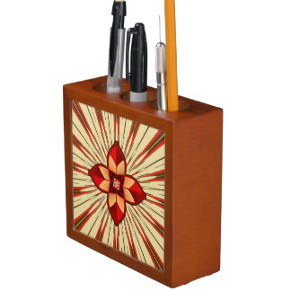 Abstracte symboliek pennenhouder