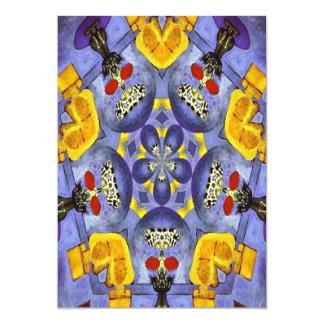 Abstracte Vaas 12,7x17,8 Uitnodiging Kaart
