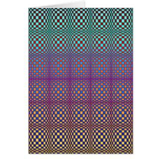 Abstracte Vierkanten 3 (portret) Briefkaarten 0