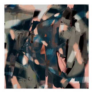 Abstracte Vissen met Overbite Poster