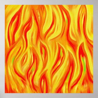 Abstracte Vlammen Poster