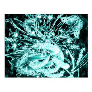 abstracte vlinders & acacia horizontaal briefkaart
