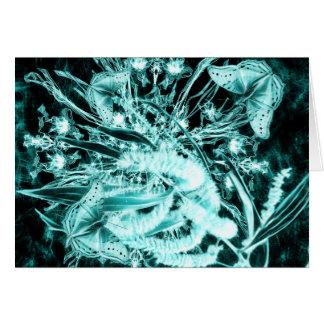abstracte vlinders en acacia horizontale kaart