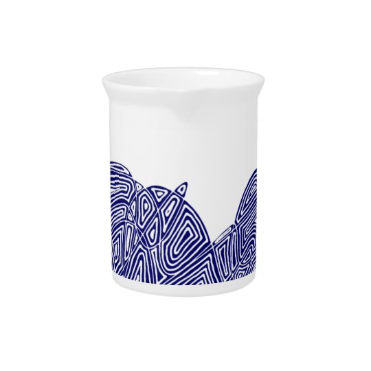 Abstracte Waterkruik Scribbleprint Bier Pitcher