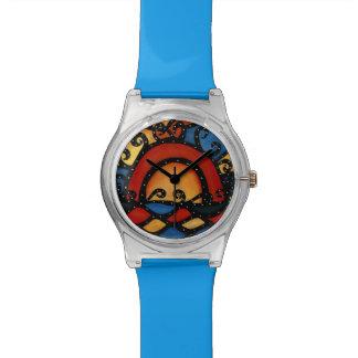 Abstracte Zonsondergang Horloge